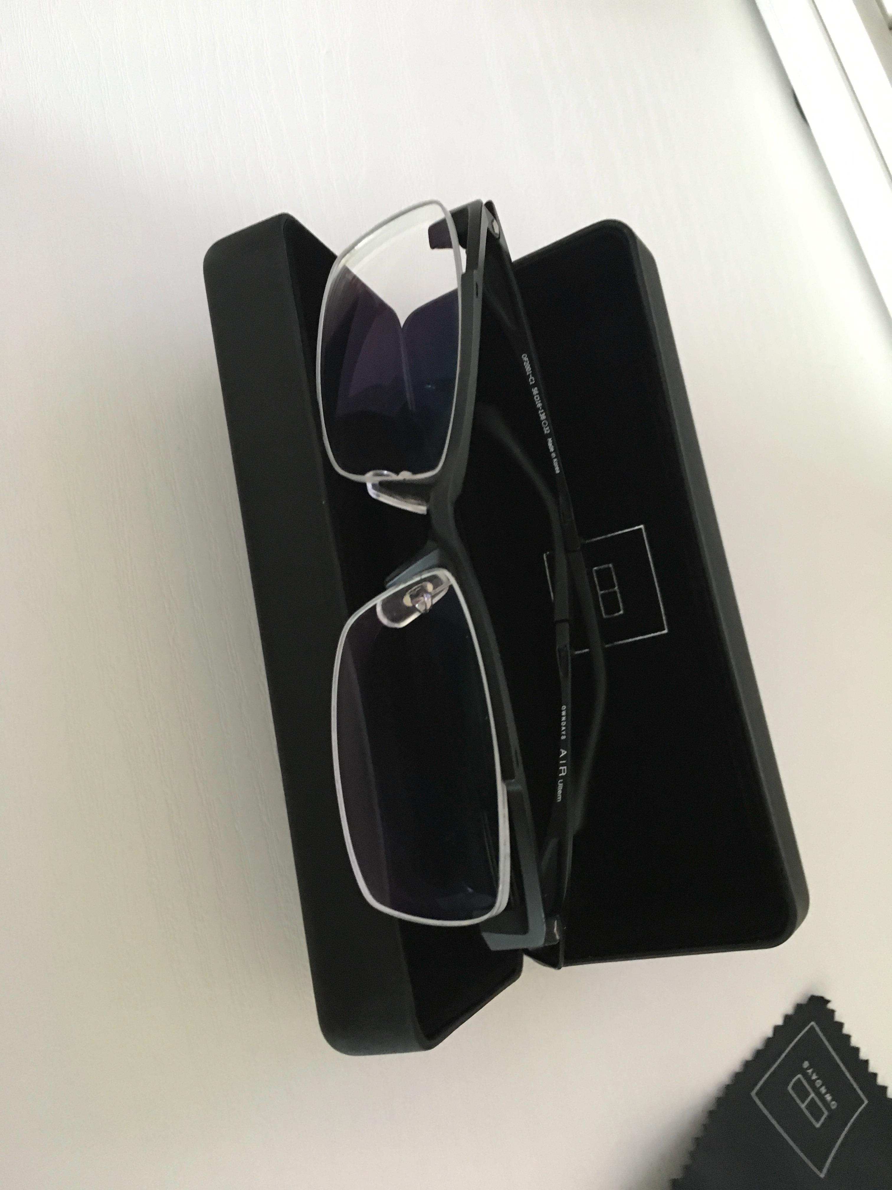 仕上がったPC作業用のメガネ